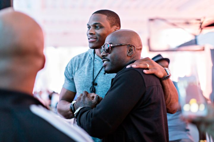 Russell Westbrook & Treach at EA Sports NBA Live 16 Preview.