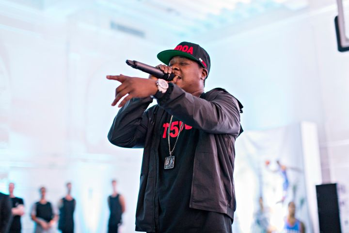 Jadakiss performs at EA Sports' NBA Live Preview in New York City.