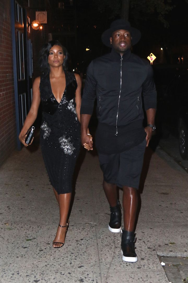 #RelationshipGoals. Dwyane Wade enjoys date night with his wife Gabrielle Union at Cafe Clover.