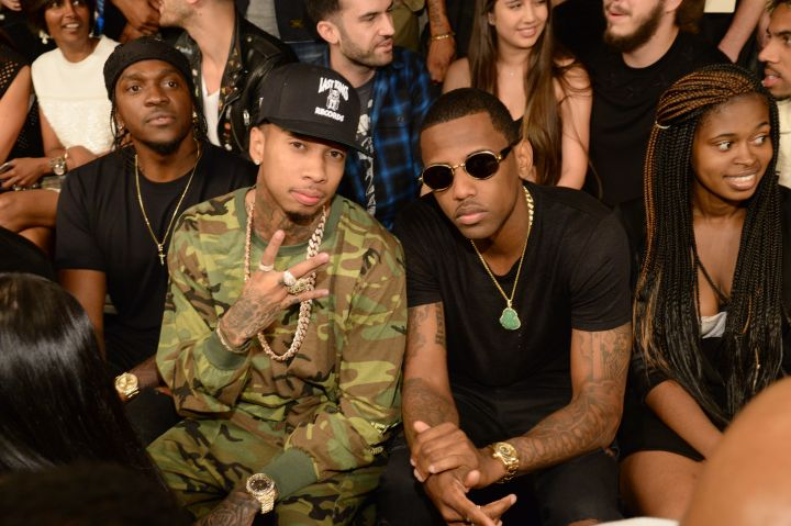 Pusha T, Tyga and Fabolous wait for the show to start.