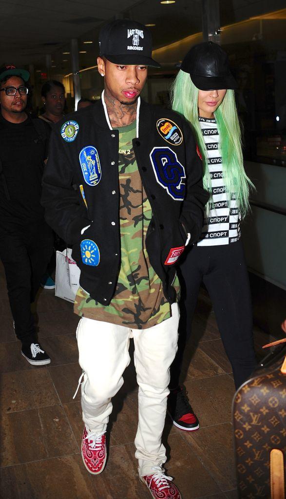 Kylie Jenner & Tyga head back to L.A.