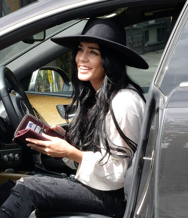 Flash that smile! Vanessa Hudgens was out and about in Los Angeles.