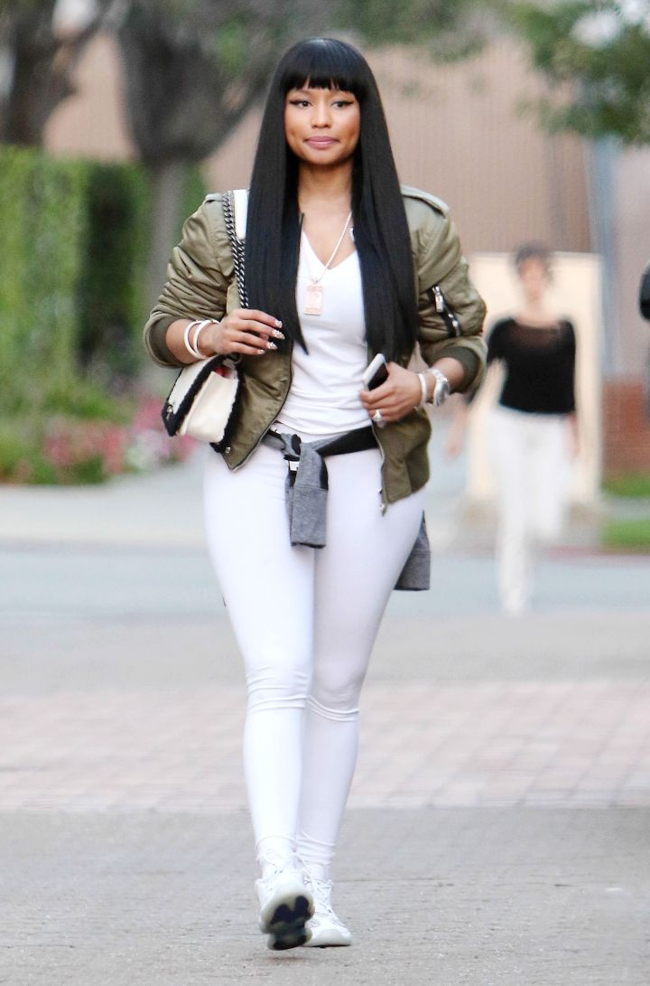 Nicki Minaj was looking thick as she shopped at Barneys in L.A.