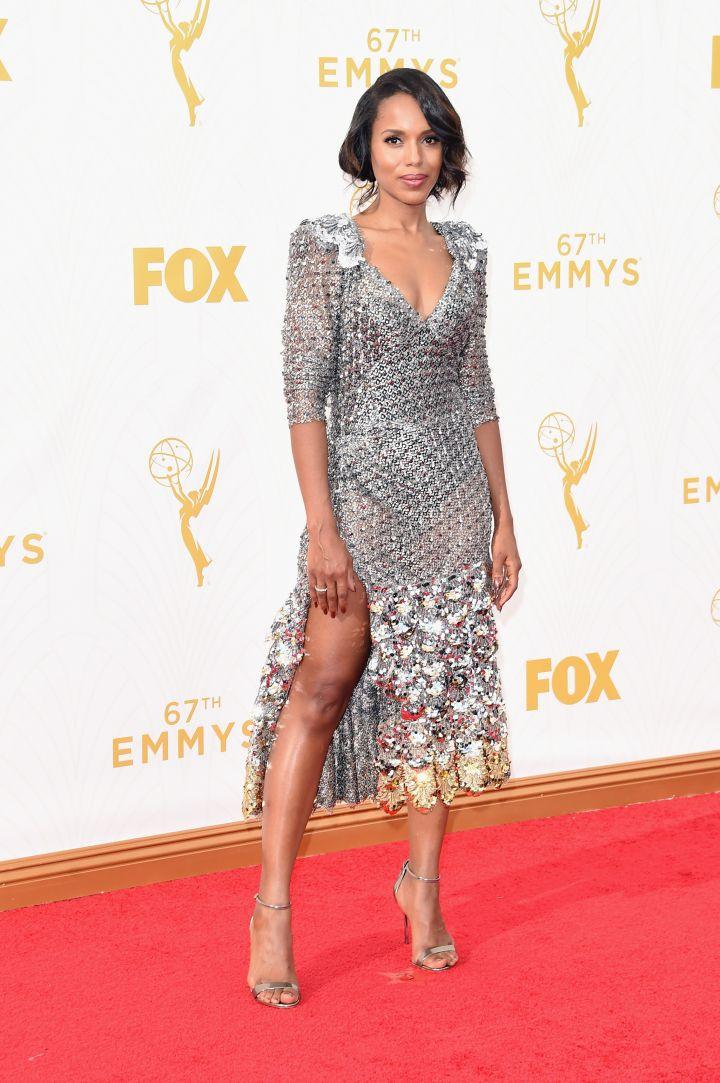 Kerry Washington in a mesh Marc Jacobs dress