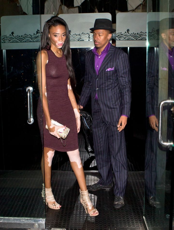 New Couple Alert: Nick Cannon takes his rumored new girlfriend Winnie Harlow to dinner at Mr. Chow Restaurant in Beverly Hills, CA.