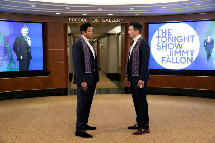 "Terrence Howard and Jimmy Fallon both dress up as Lucious Lyon in an ""Empire"" spoof for The Tonight Show with Jimmy Fallon."