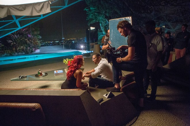 Nelly, Jeremih, and Miss Jackson On Set Of 'The Fix' Video