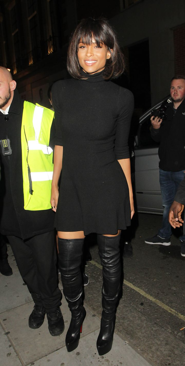 Ciara was snapped partying at Libertines nightclub In London.