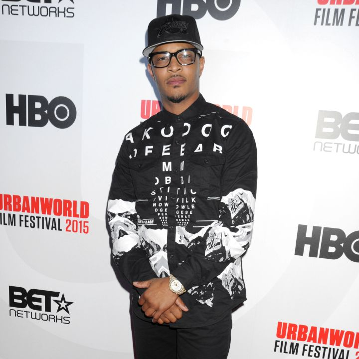 """T.I. posted up at the 2015 UrbanWorld Film Festival's Opening Night Spotlight presentation of """"Muhammad Ali: The People's Champ."""""""