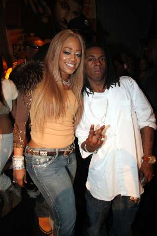 Trina and Lil Wayne at DJ Khaled birthday party, concert