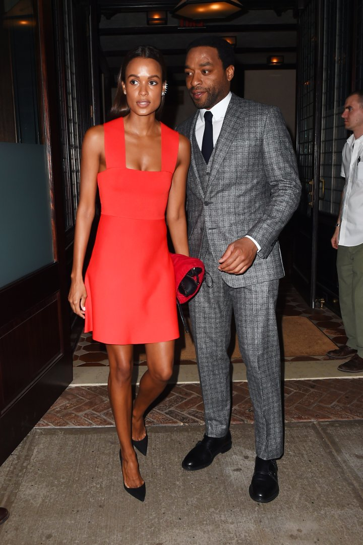 Chiwetel Ejiofor was spotted with his new girlfriend while leaving their hotel in NYC. Isn't she lovely?