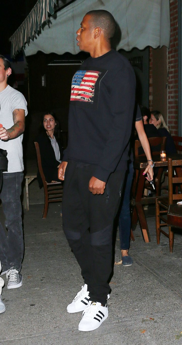 Hov was on hand in BK as well.
