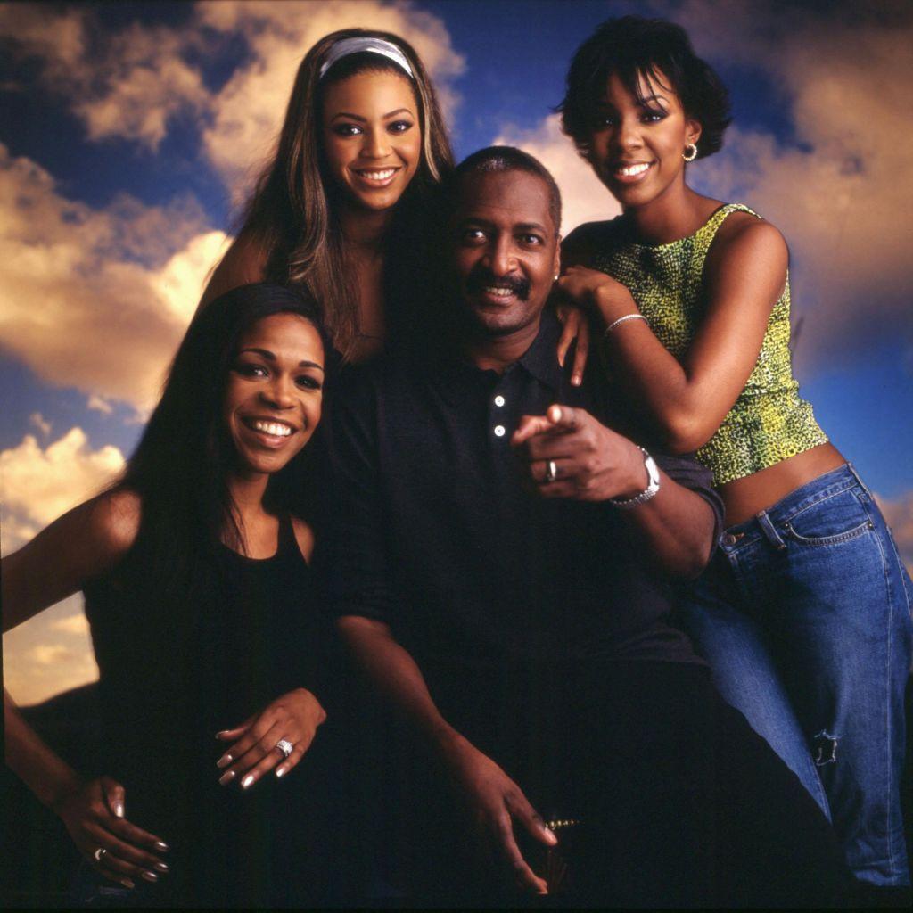 Studio Portrait of Destiny's Child & Matthew Knowles