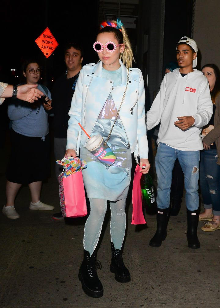 Miley Cyrus is a fashionista as she gears up to host SNL. But unfortunately, she's still wearing those dreadlocks.