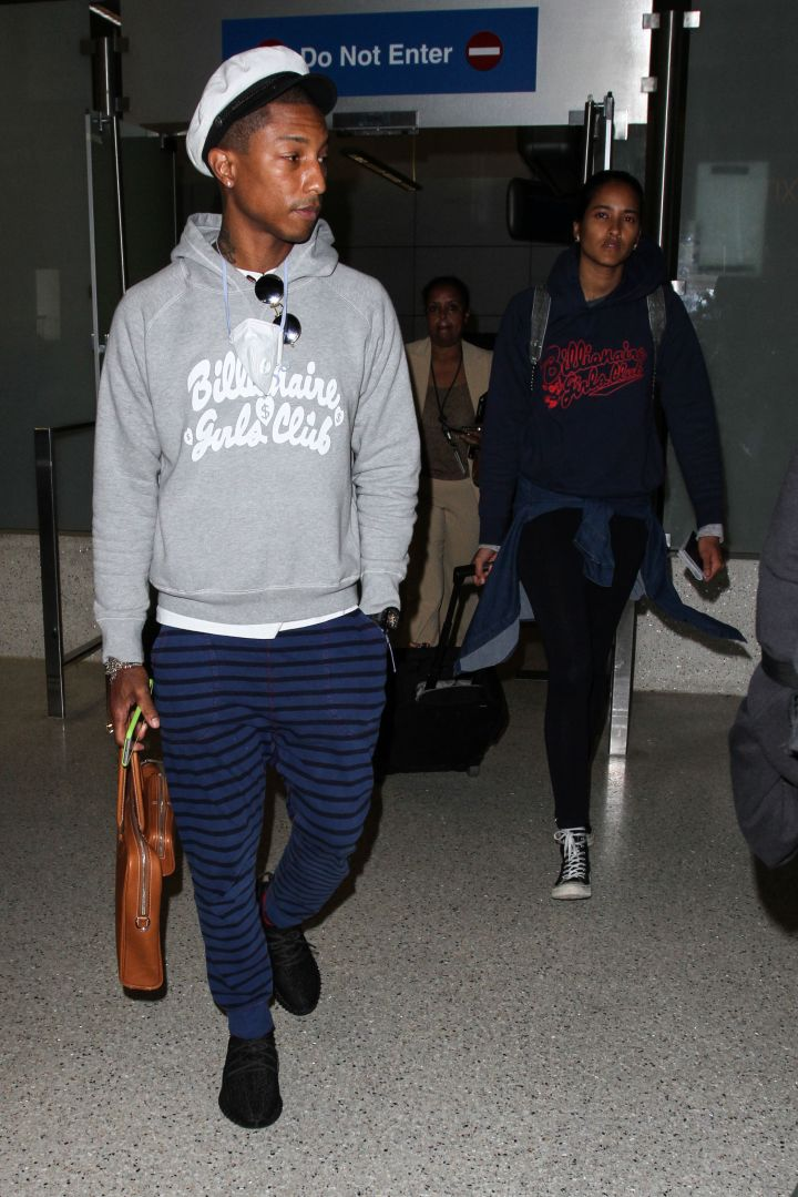 No worries Pharrell, your wife is right behind you at LAX Airport.