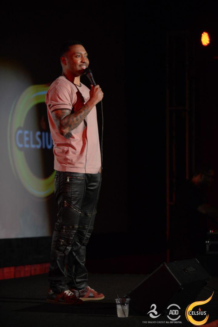 Comedian Naim Lynn hit the stage.
