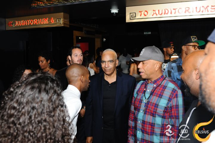 Stan Lathan and Russell Simmons mingled with the crowd.