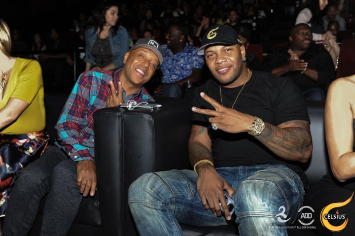 Russell Simmons enjoyed the show with Flo Rida.