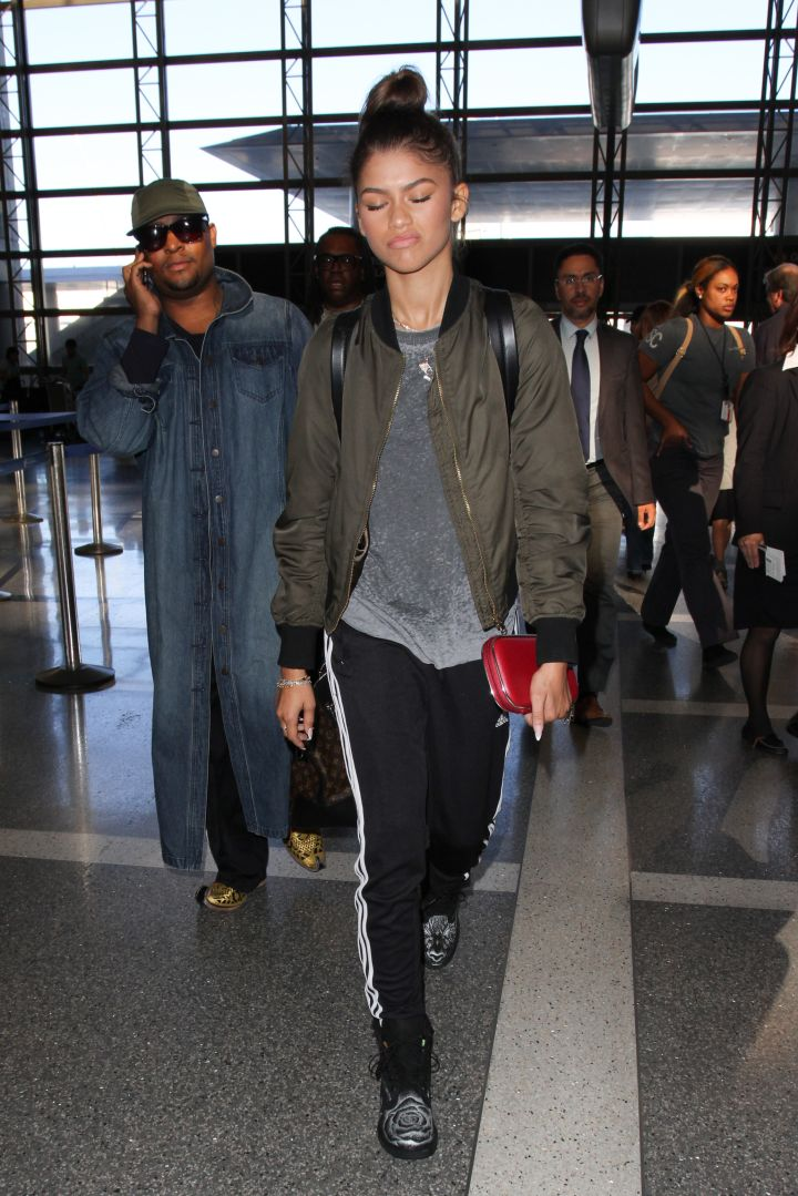 Zendaya keeps it so G at LAX. Isn't that why we love her so much?