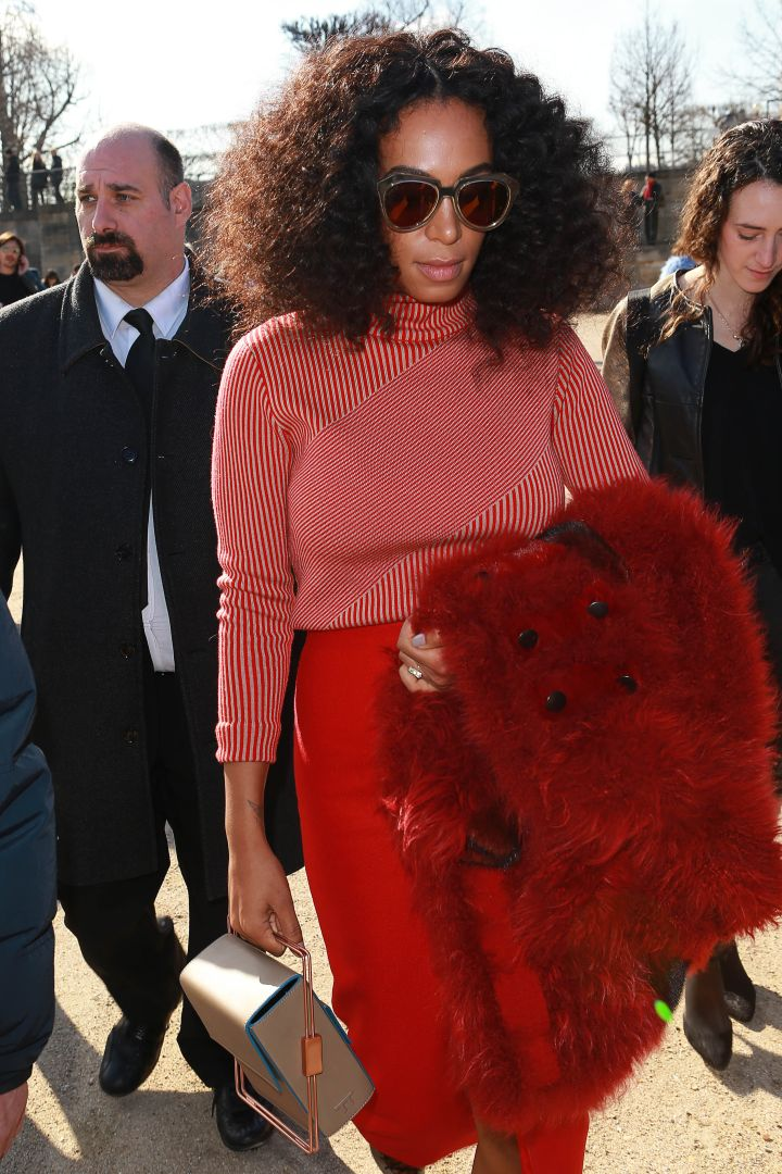 Solange donned a classic turtle neck