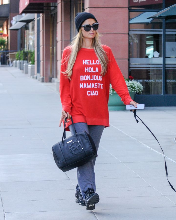 Of course Paris Hilton opted for the casual/chic look