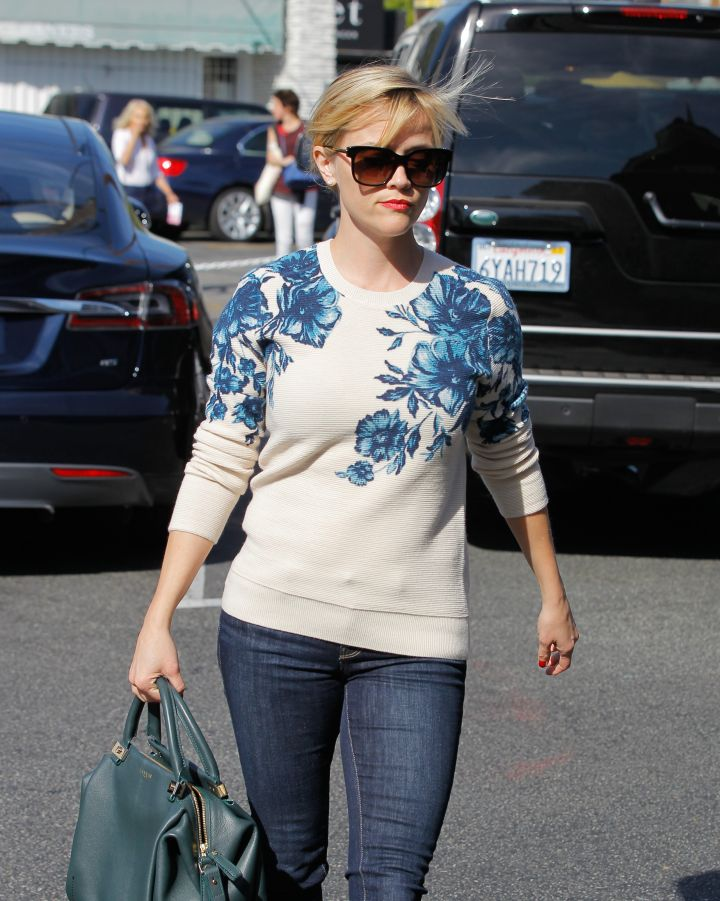 Reese Witherspoon went for a floral look