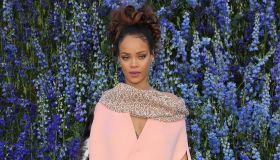 Rihanna attends Dior fashion show in Paris