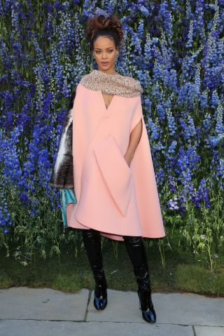 Rihanna attends Dior fashion show in Paris