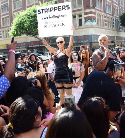 Amber Rose hosts SlutWalk 2015 in Downtown Los Angeles, Ca