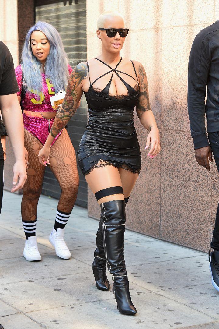 Amber Rose arriving at the SlutWalk.