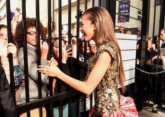 zendaya at paris fashion week