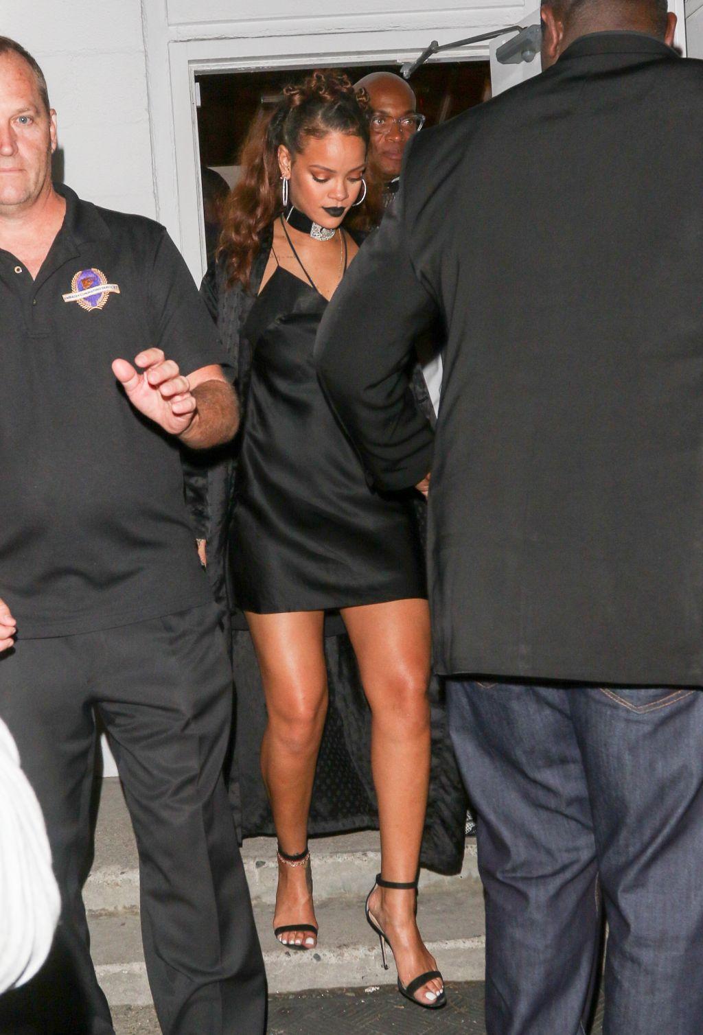Rihanna departs Mama Studio in Downtown Los Angeles