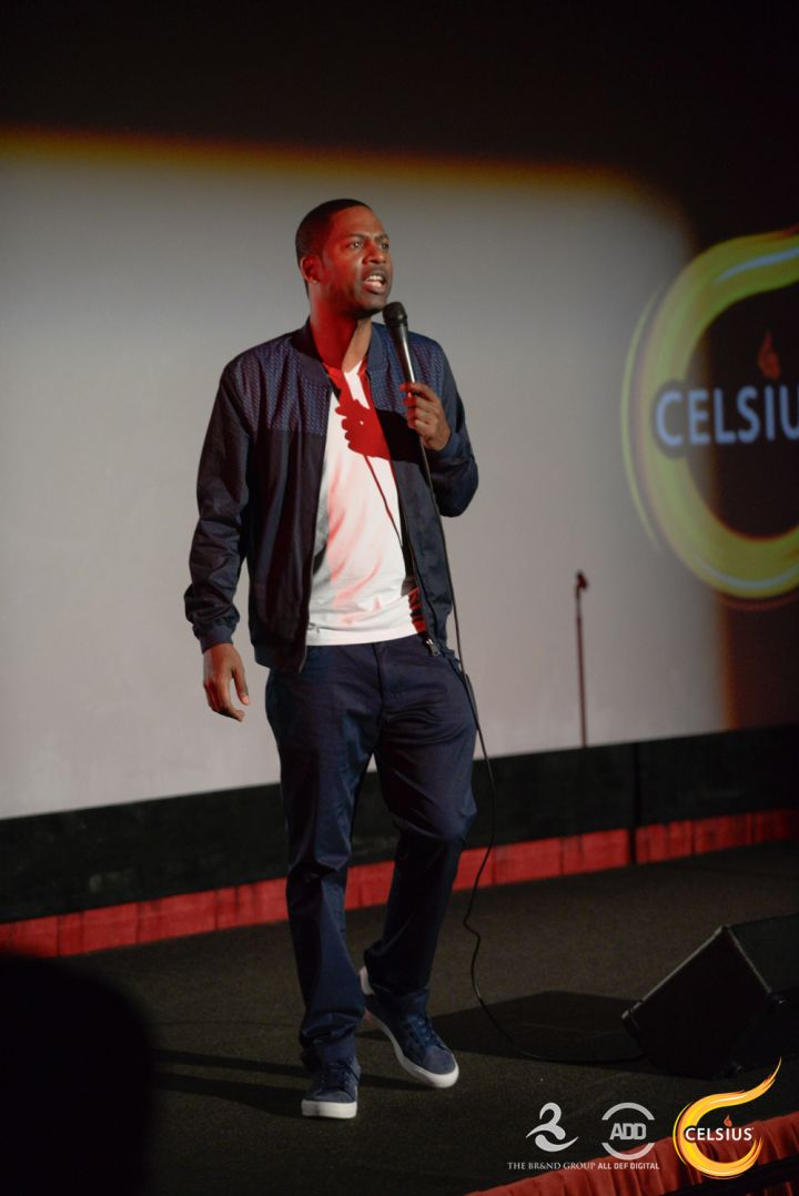 Tony Rock hits the stage.