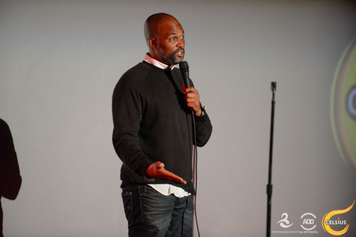 Chris Spencer hits the stage.