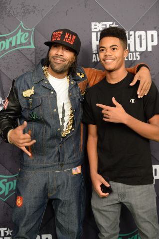Redman and his son at the 2015 BET Hip-Hop Awards