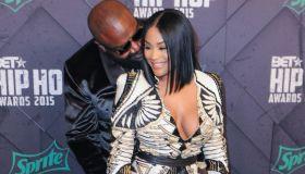 Rick Ross and fiance Lira Mercer at the 2015 BET Hip-Hop Awards