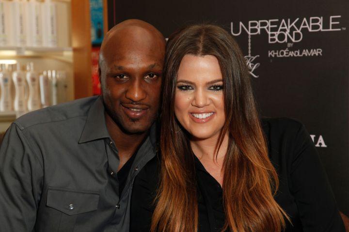 Khloe Kardashian And Lamar Odom Appearance At Perfumania's Boutique At The Block At Orange
