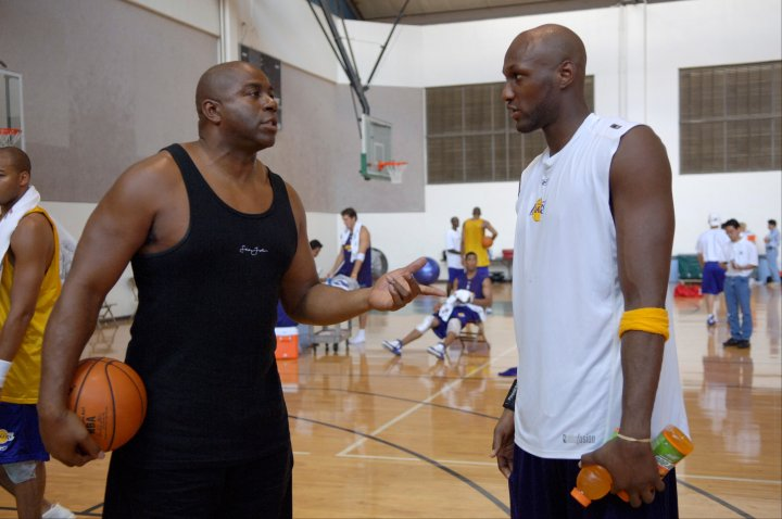 Former Laker star Magic Johnson chatted with LO