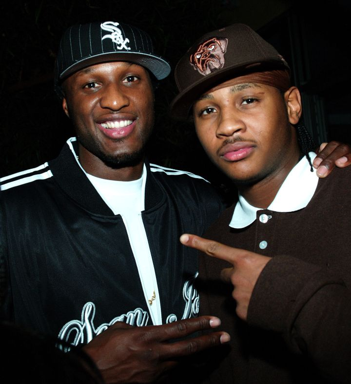 A young Lamar with Carmelo Anthony
