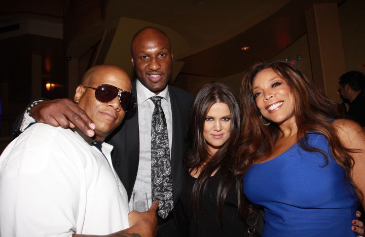 Lamar and Khloe double dated with Wendy Williams and her hubby? Who knew