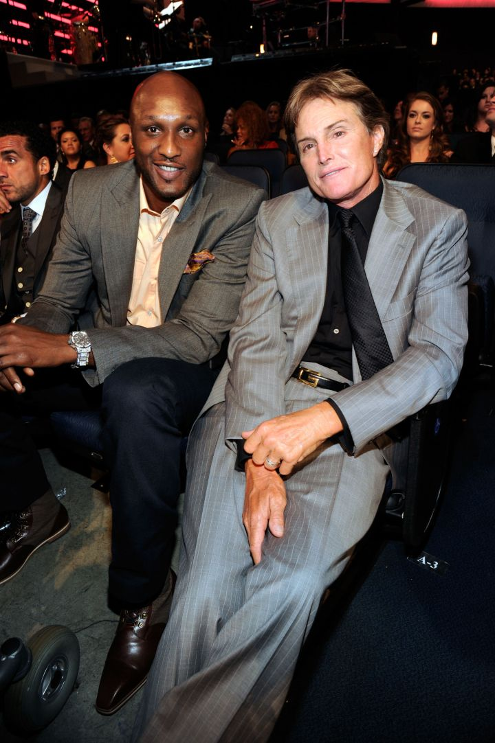 Lamar sit beside Caitlyn Jenner, formerly Bruce Jenner, at the Espys a while back