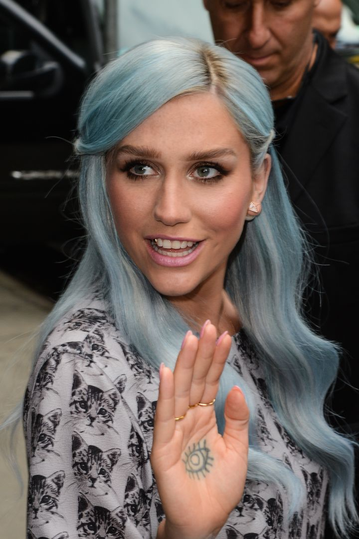 Kesha's tattoo of an eye on her palm was inspired by Middle Eastern Hamsa amulets.