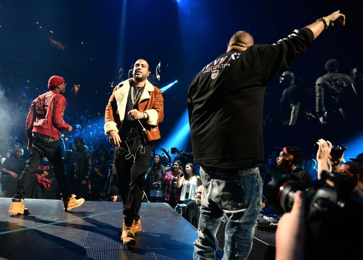 """French Montana and Khaled stopped by as well to do """"Stay Schemin."""""""