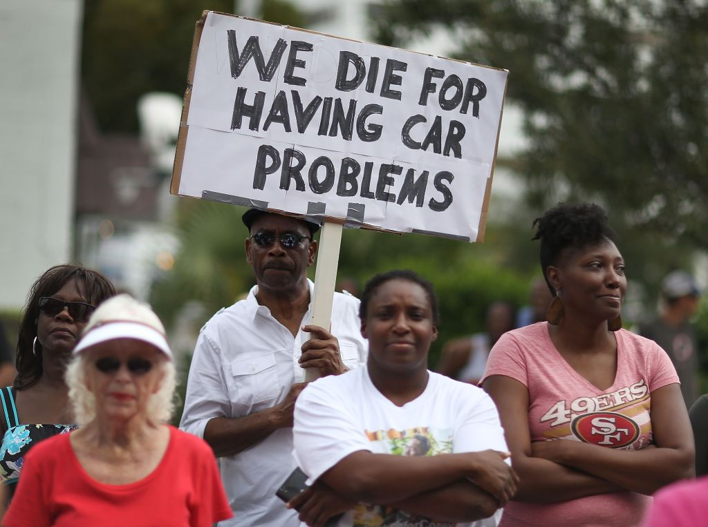 Rally For Transparency Held In Florida Police Shooting Case