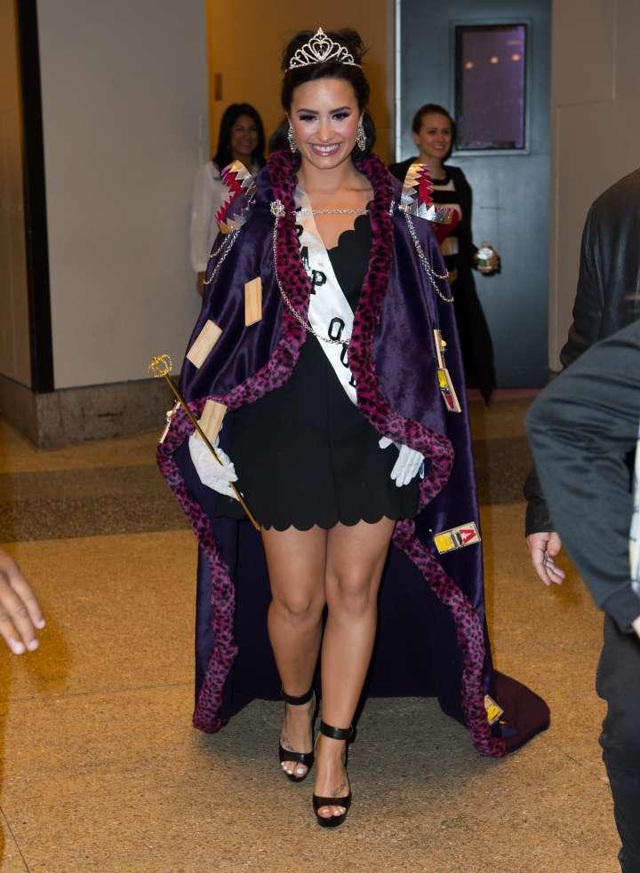 Demi Lovato got into the spirit as a Trap Queen.