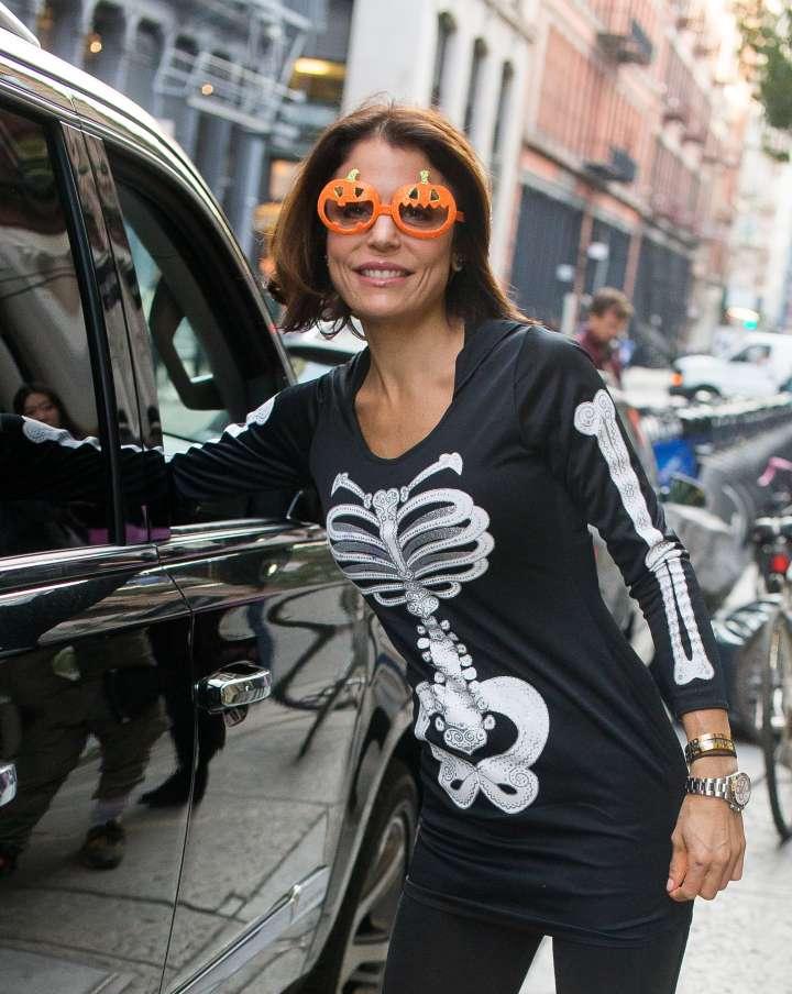 Bethenny Frankel showed off her Halloween spirit in NYC.