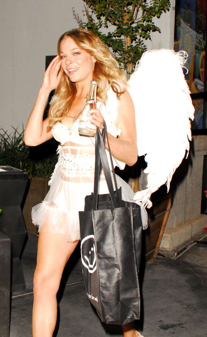 LeAnn Rimes donned angel wings.