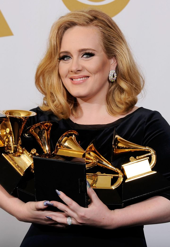 In 2012, Adele became the second female artist to win six awards in one night.