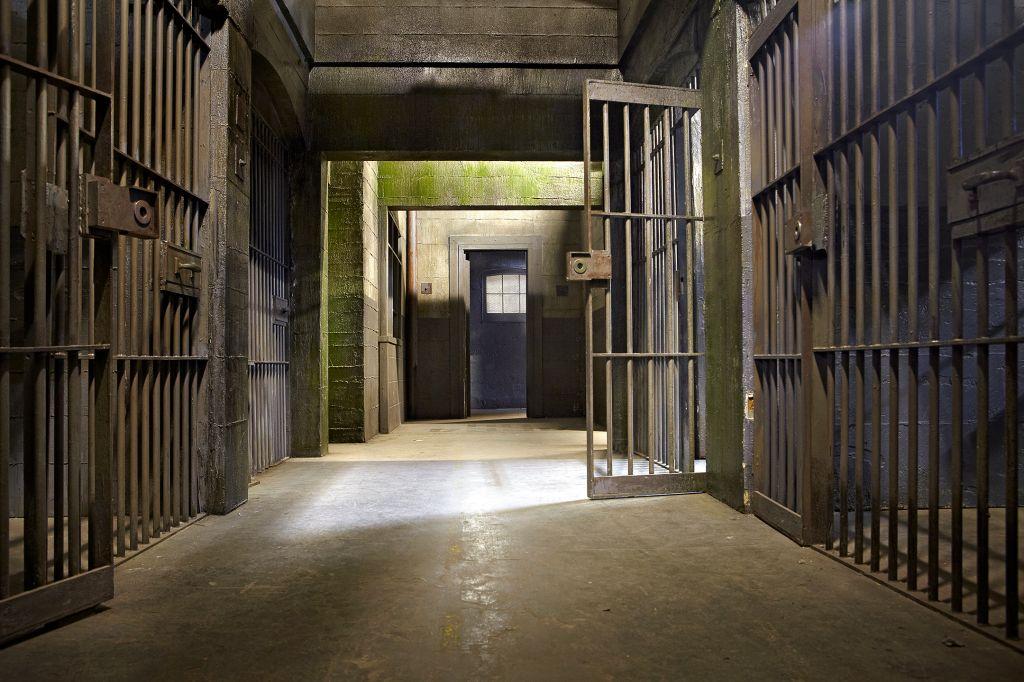 Empty Corridor In Jail