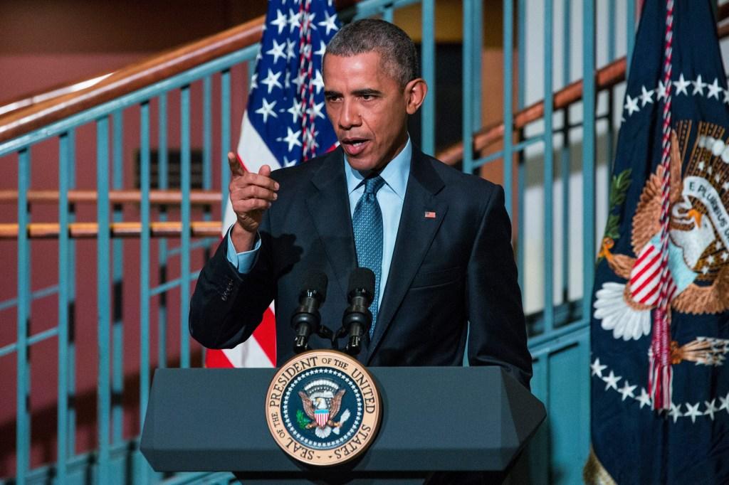 President Obama Speaks At The Newark Campus Of Rutgers University